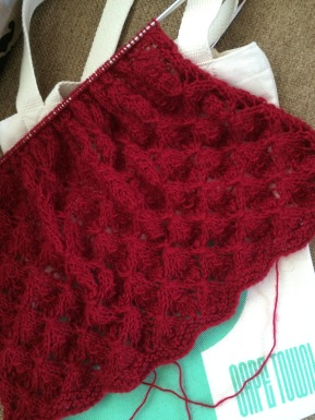 Mohair Lace Scarf - Smocked Lace Pattern