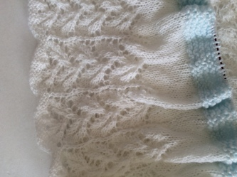 Leaf Shawl - Progress