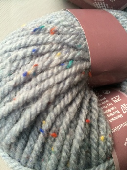 Grey Speckled Cowl