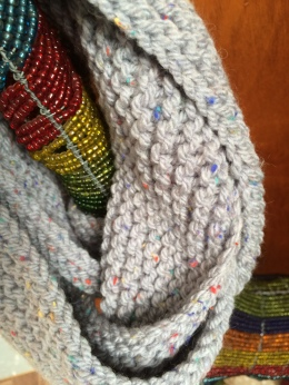 Light Grey Speckled Cowl