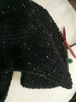 Dark Grey Speckled Cowl
