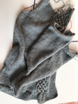 Grey sweater progress